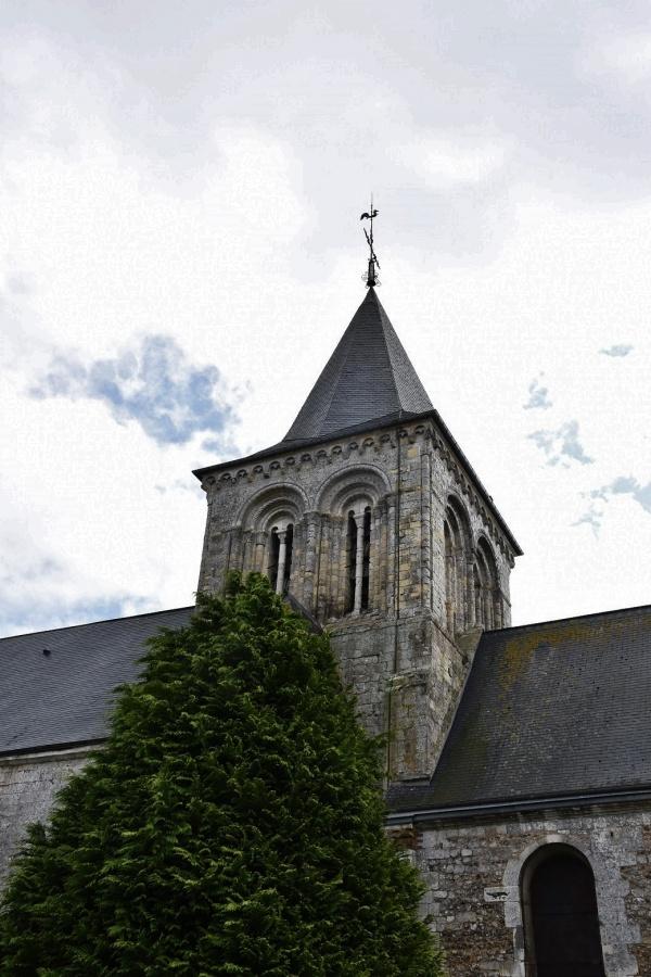 Photo Angerville-l'Orcher - le clocher église Notre Dame