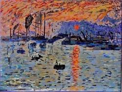 Photo dessins et illustrations, Le Havre - Le Havre.Impression soleil levant.Influence,Claude Monet.