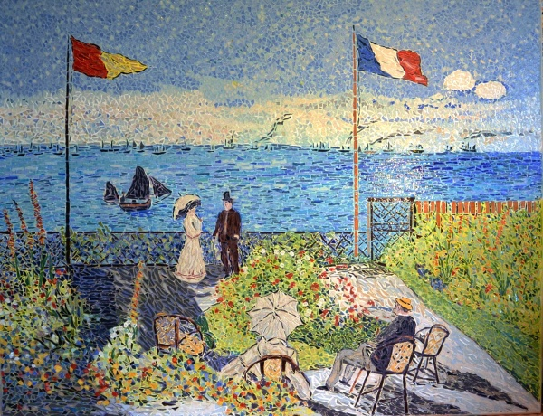 Le jardin à Sainte-Adresse.Influence Claude Monet.