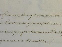 Photo dessins et illustrations, Les Chapelles-Bourbon - Suite acte notarial de la Comtesse de Verüa au Marquis de Moras