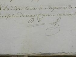 Photo dessins et illustrations, Les Chapelles-Bourbon - Suite acte notarial de vente de la Comtesse de Verüa au Marquis de Moras