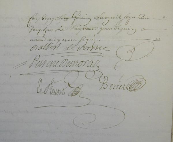 Photo Les Chapelles-Bourbon - Suite et fin acte notarial de vente Comtesse de Verüa au Marquis de Moras