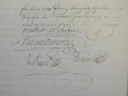 Photo dessins et illustrations, Les Chapelles-Bourbon - Suite et fin acte notarial de vente Comtesse de Verüa au Marquis de Moras