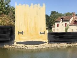 Photo paysage et monuments, Les Chapelles-Bourbon - Mis à jour des fondations d'une des 5 tours de fortifications