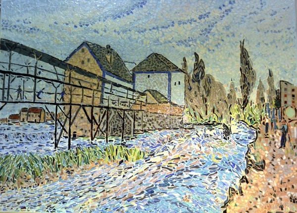 Moret sur Loing.Le Moulin;Influence Alfred sisley.
