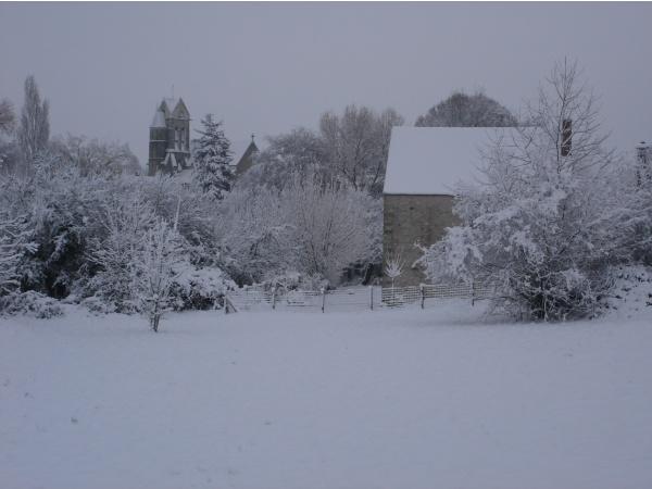 Village sous la neige le 29/11/2010