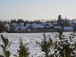 Photo paysage et monuments, Ville-Saint-Jacques - Village et église de Ville Saint Jacques sous la neige en 2009