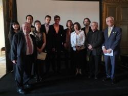 Finalistes Concours Piano IDF 2017 avec Jacques Myard et le Jury du Concours