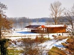 Photo paysage et monuments, Saint-Nicolas-de-la-Grave - La base de loisirs sous la neige