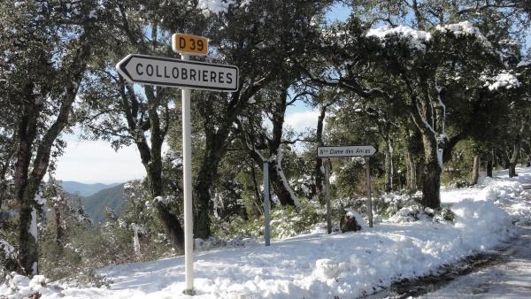 col des fourches sous la neige février 2011 collobrieres