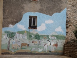 Photo paysage et monuments, La Roquebrussanne - Peinture Murale