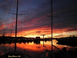 Photo paysage et monuments, Saint-Tropez - Coucher de soleil sur le port.
