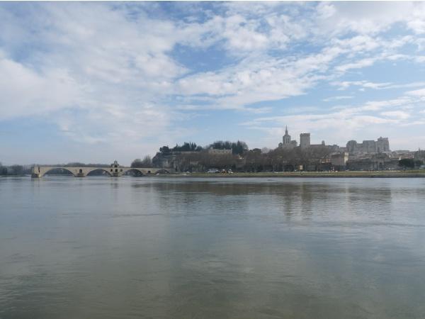 Photo Avignon - le palais des papes et le pont st bénézet