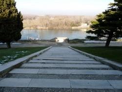 Photo paysage et monuments, Avignon - la descente du rocher des doms