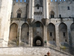 Photo paysage et monuments, Avignon - entree du palais des papes
