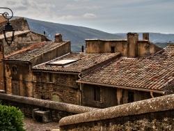 Photo paysage et monuments, Bonnieux - Le ciel est par-dessus les toits