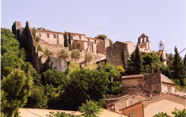 Photo Gigondas - vue du château