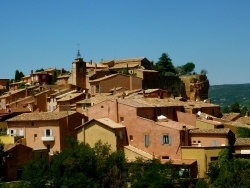 Photo paysage et monuments, Roussillon - Village flamboyant