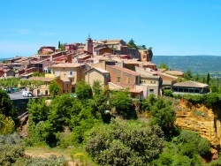 Photo paysage et monuments, Roussillon - Le village de Roussillon dans le Vaucluse