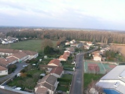 Photo paysage et monuments, Latillé - Latillé vue du ciel en décembre 2009