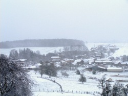 Photo paysage et monuments, Belmont-lès-Darney - le village sous la neige 23 12 2010