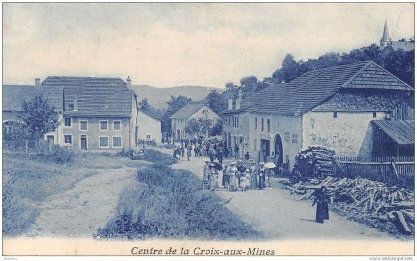 le centre de la croix aux mines