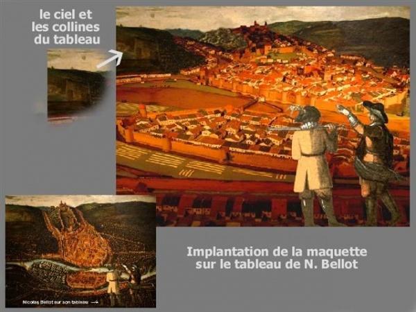 Musée du Chapitre = Maquette d'Epinal selon le tableau de N.Bellot 1626 ( www.Epinal-en-1626.fr )