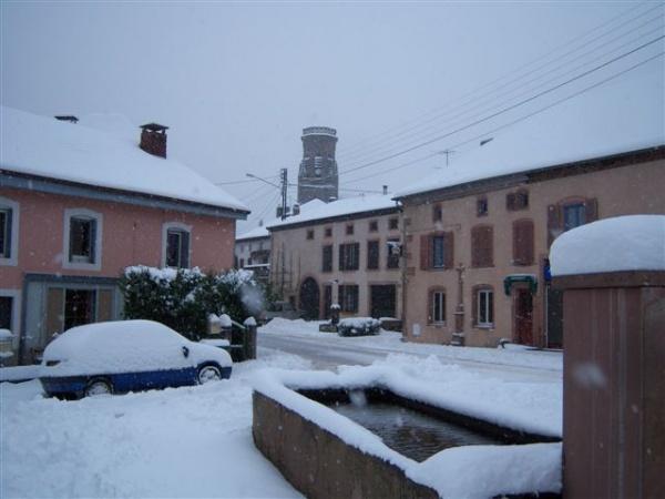 L'hiver est sur le village de Moussey.....
