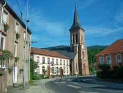 Photo paysage et monuments, La Petite-Raon - La Petite-Raon centre Mairie Eglise