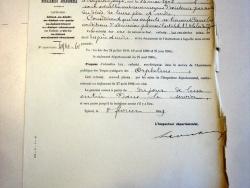 Lettre de l'inspecteur départemental de l'Assistance publique