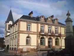 Photo paysage et monuments, Plainfaing - Mairie et  Eglise de Plainfaing