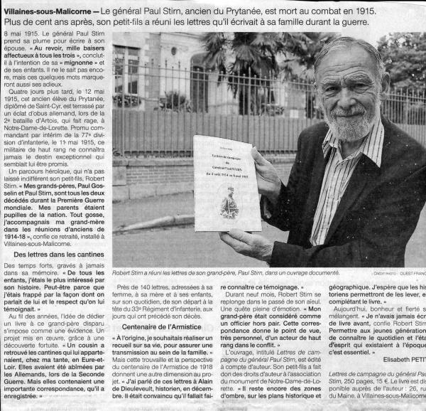 Photo Les Voivres - Lettres centenaires d'un général en campagne 1/2