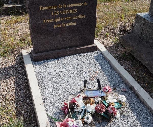 Etat de la sépulture au 31-07-2018