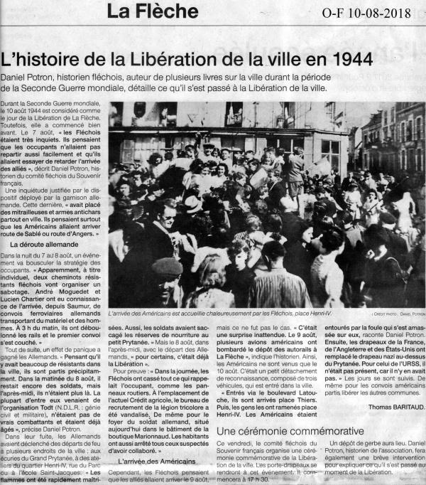 Photo Les Voivres - Libération de La Flèche