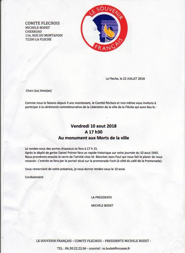 """Photo Les Voivres - Invitation du """"Souvenir Français"""""""