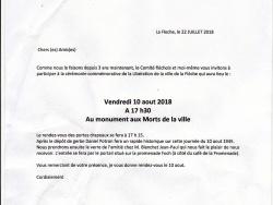 "Invitation du ""Souvenir Français"""