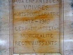 Inscriptions présentes sur le monument