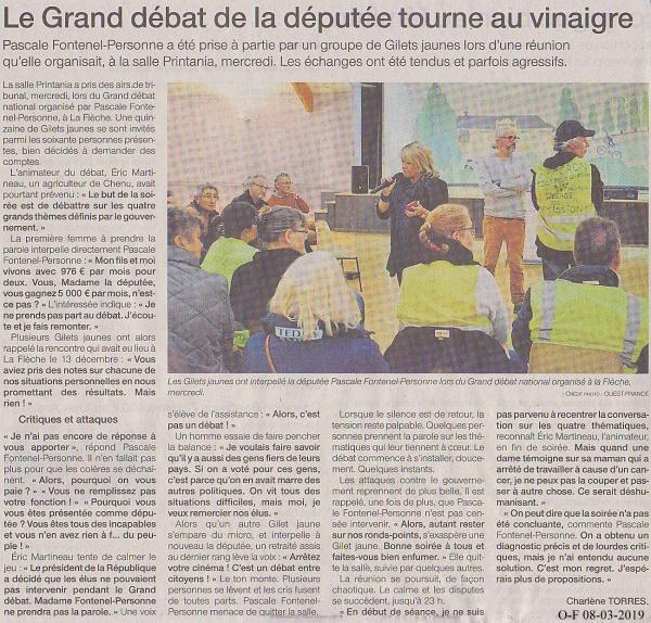 Photo Les Voivres - Un débat qui tourne au vinaigre