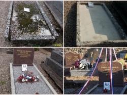 Evolution de la tombe du soldat Marchand