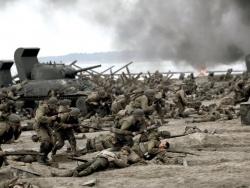 """Scène du débarquement dans """"Il faut sauver le soldat Ryan"""""""
