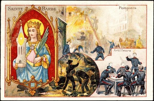 Sainte-Barbe, Patronne de plusieurs Corps de métiers