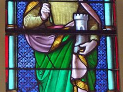Un vitrail dédié à Sainte-Barbe