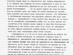 Requête du Conseil général de la Commune des Voivres 1/4
