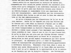 Requête du Conseil général de la Commune des Voivres 3/4