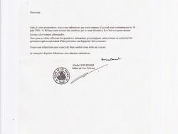 Réponse de M. le Maire de Les Voivres