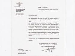 Réponse du Délégué Militaire Départemental des Vosges