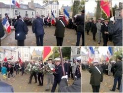 La cérémonie au monument aux morts
