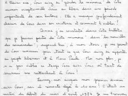 """Lettre de la « voisine »  des """"Casques blancs"""" 1/4"""
