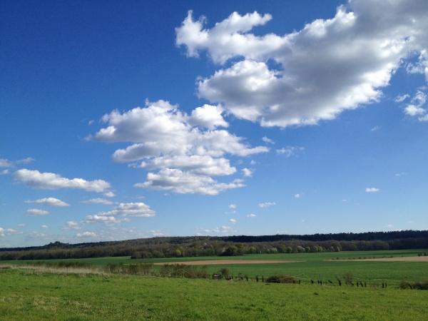 Les vrais nuages de ma campagne.....
