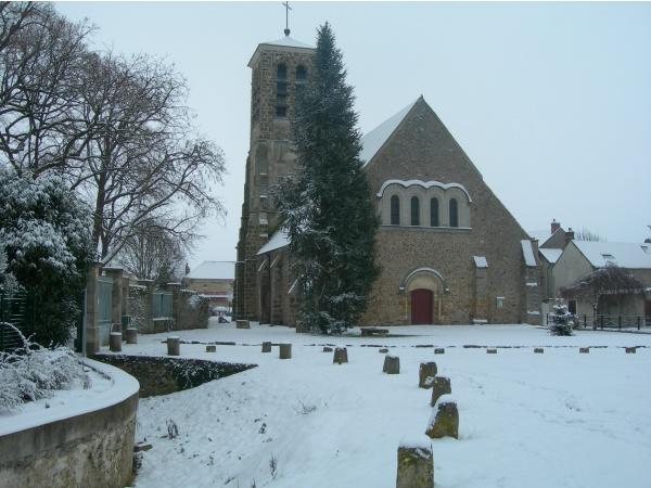 Photo Leudeville - Eglise de Leudeville sous la neige